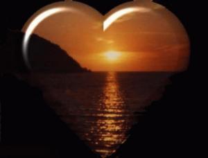 tramonto con cuore